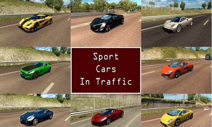 Pack Carros Esportivos Tráfego V.3.9 Para V.1.35.X - ETS2