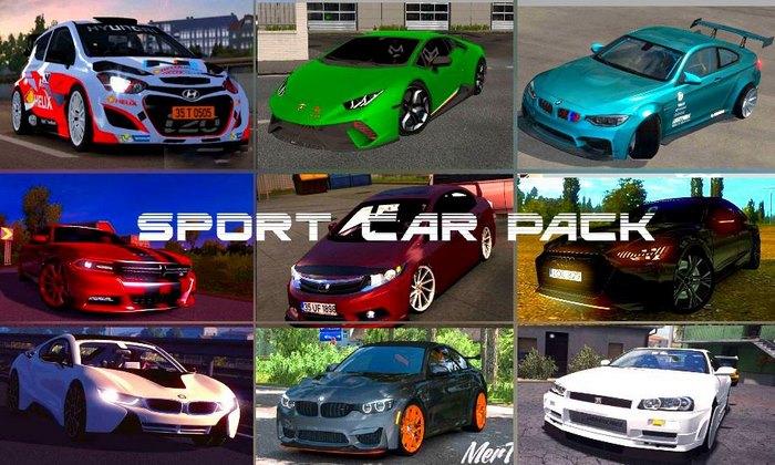Pack de Carros Esportivos V.1.0 Para V.1.35.X - ETS2