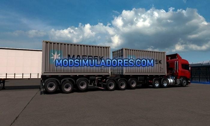 Bitrem Porta Container Para V.1.35.X - ETS2