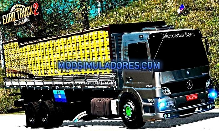Caminhão Atego 2425 Baú Para V.1.35.X - ETS2