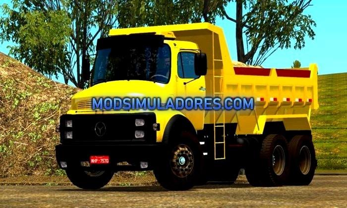 Caminhão MB 1518 Caçamba Para V.1.35.X - ETS2
