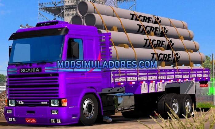 Caminhão Scania 113 Frontal Carroceria Para V.1.35.X - ETS2