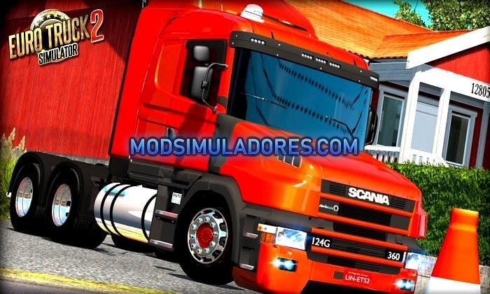 Caminhão Scania 124G V.2.0 Bicuda Para V.1.35.X - ETS2