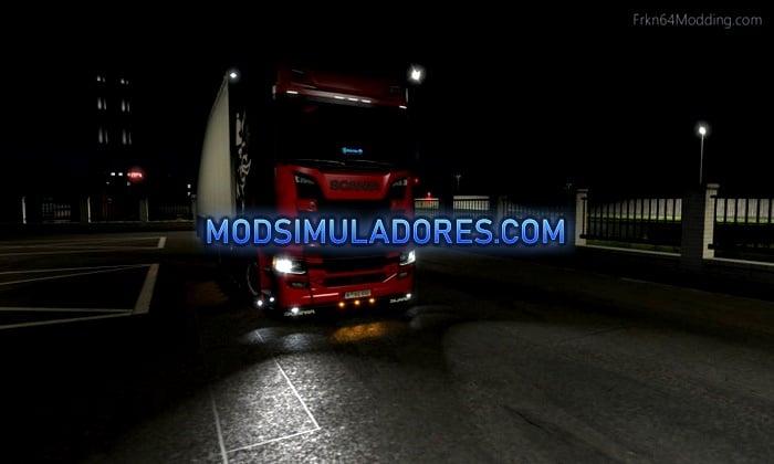 Luzes Realista do Caminhão V.4.2 Para V.1.35.X - ETS2