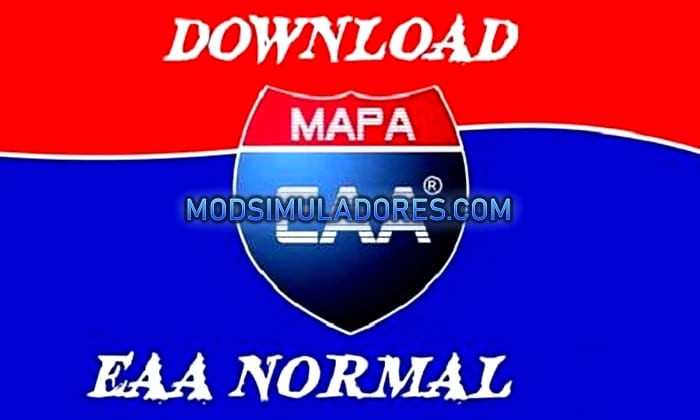Mapa EAA Normal V.5.1 Para V.1.35.X - ETS2
