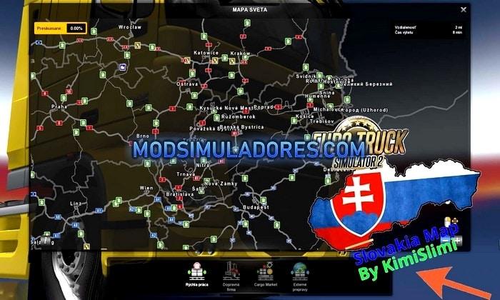 Mapa Nova Eslováquia V.19.0 Demo Para V.1.35.X - ETS2