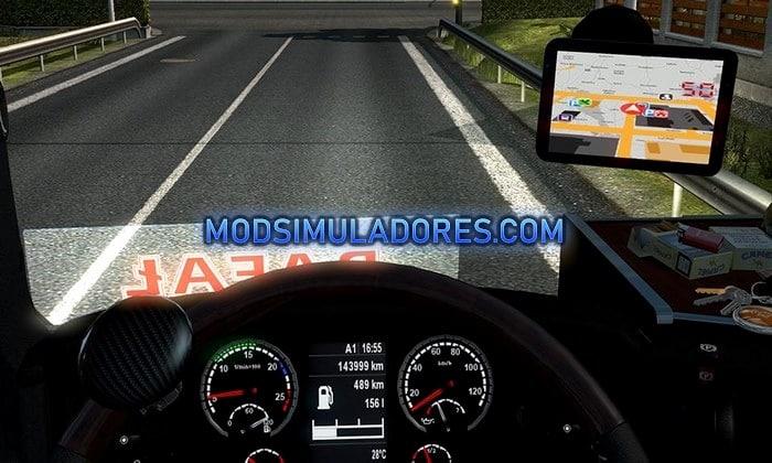 Mod Novo GPS RG Pro Led V.1.1 Para V.1.35.X - ETS2