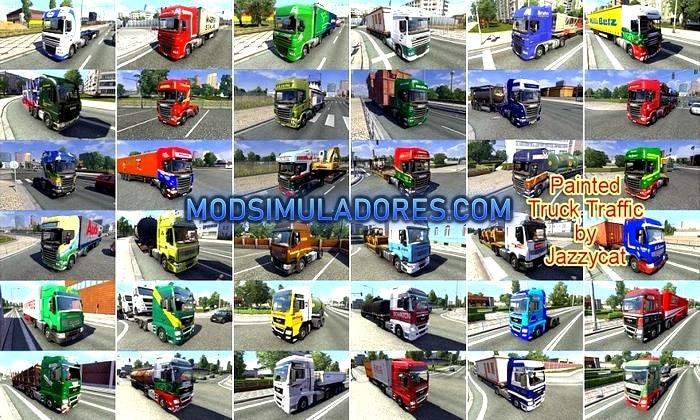 Mod Pack de Caminhões Pintados Para V.8.5 Para V.1.35.X - ETS2