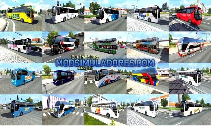 Pack de Ônibus Para o Tráfego V.7.7 Para V.1.35.X - ETS2