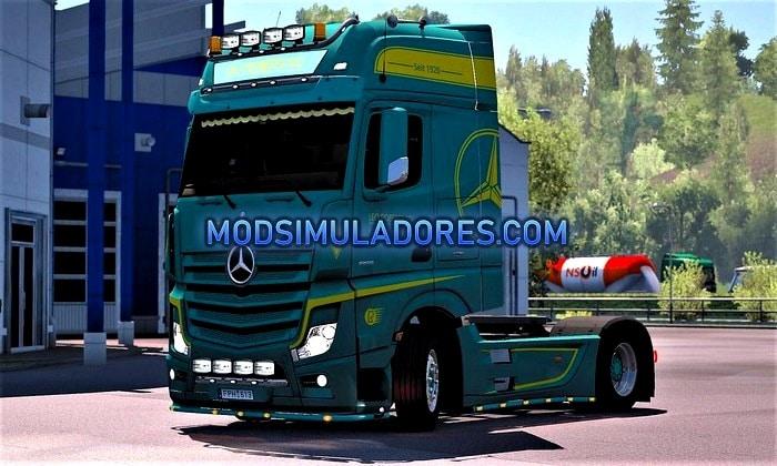 Skin Leo Robertz Mercedes Benz Actros MP4 Para V.1.35.X - ETS2