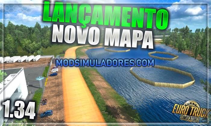 Mapa Norte do Brasil V.4.0 Para V.1.36.X - ETS2
