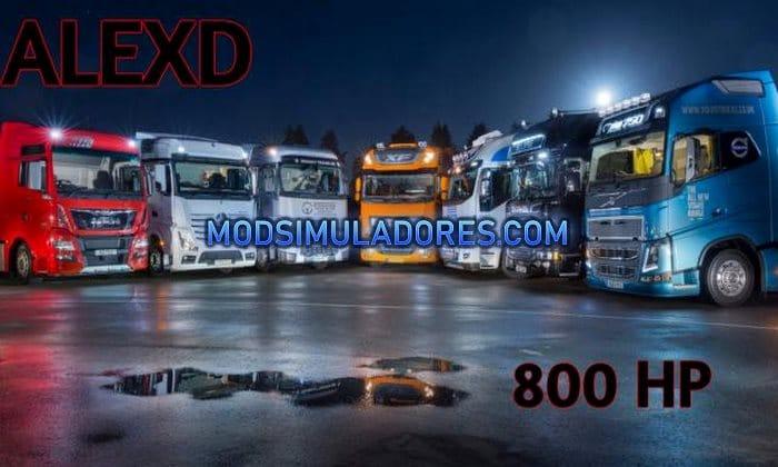 Mod Pack de Motores 800HP V.1.5 Para V.1.36.X - ETS2