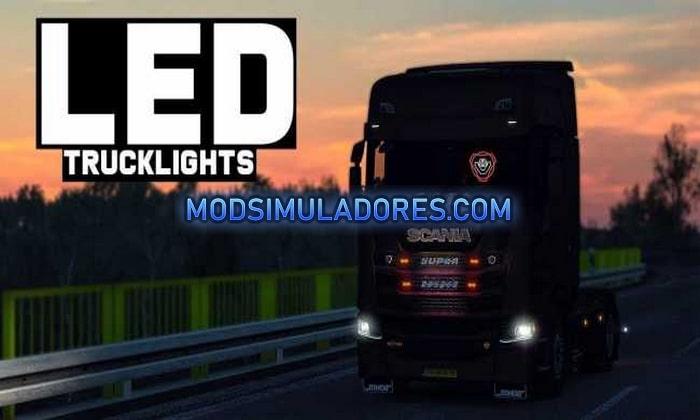 Mod Luzes de Led para Caminhões V.6.0 Para V.1.36.X - ETS2