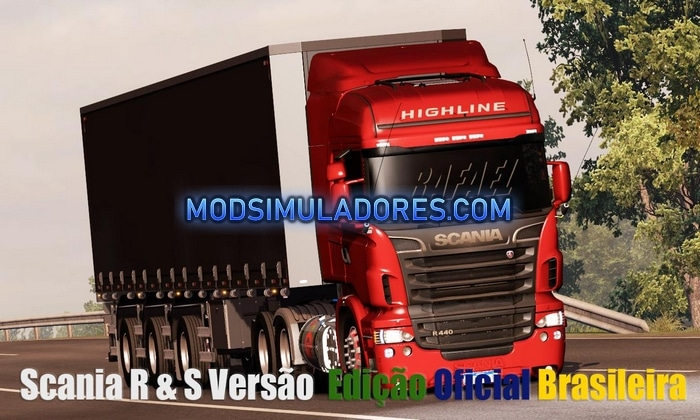 Caminhão Scania Edit BR R&S Para V.1.36.X - ETS2