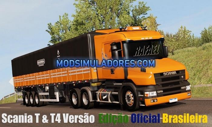 Caminhão Scanias T e T4 Edit BR Para V.1.36.X - ETS2