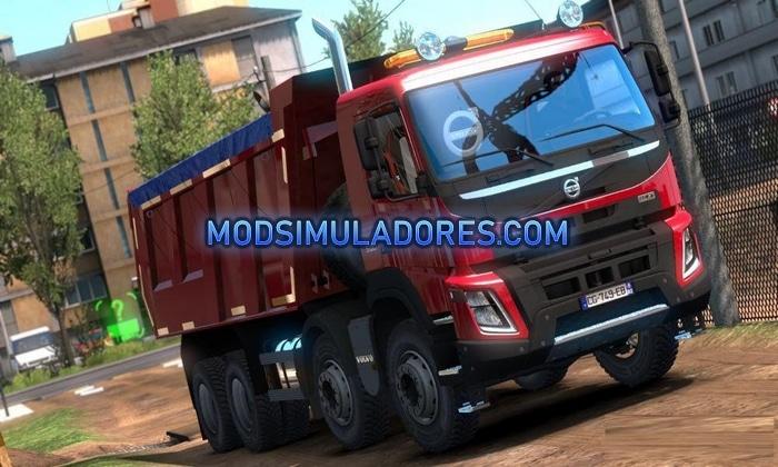 Caminhão Volvo FMX 540 e Basculante Meiller Para V.1.36.X - ETS2