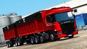 Caminhão Scania R480 V8 e Bitrem Basculante Para V.1.37.X - ETS2