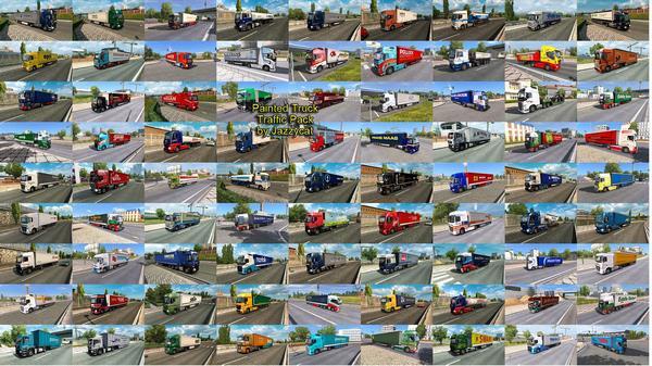 Pack Caminhões Pintados no Tráfego V.10.6 Para 1.37 – ETS2