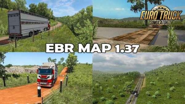 Mapa EBR Estradas do Brasil 1.73 Para 1.37