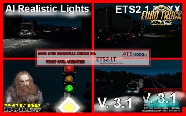 Mod Luzes Realistas V.3.1 Para 1.38 – ETS2