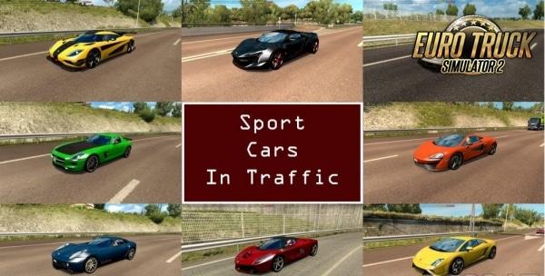 Pack Carros Esportivos no Tráfego V.6.6 Para 1.37 - ETS2
