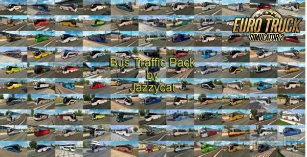 Pack de Ônibus no Trafégo V.9.9.1 Para 1.38 - ETS2