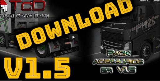 Pack de Acessórios e sons do Tonho V.1.5 Para 1.38 – ETS2