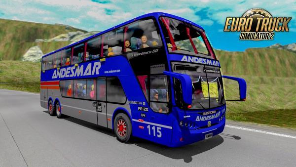 Ônibus Busscar Scania Panoramico DD 6×2 Para 1.38 – ETS2