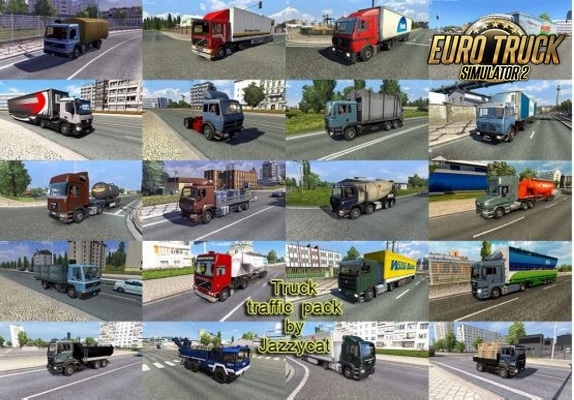Pack de Caminhões no Tráfego V.4.7.3 Para 1.38 – ETS2