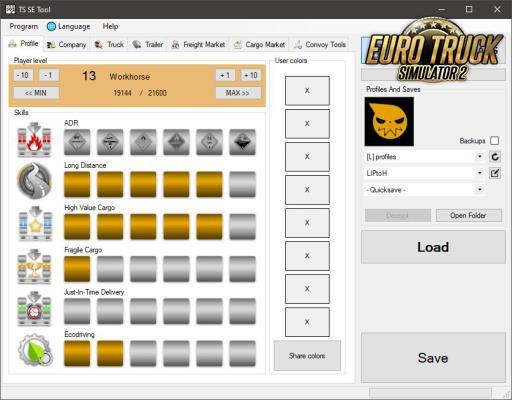 TS SaveEditor Tool V.0.2.4.0 Para 1.38 – ETS2