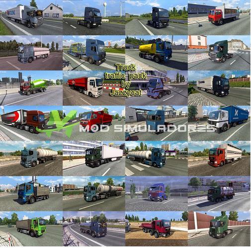 Pack Caminhões no Tráfego V.5.0.1 Para V.1.39.X - ETS2