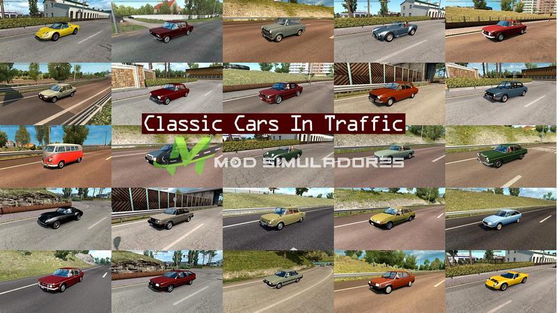 Pack Carros Classicos Tráfego V.5.9 Para V.1.39.X - ETS2