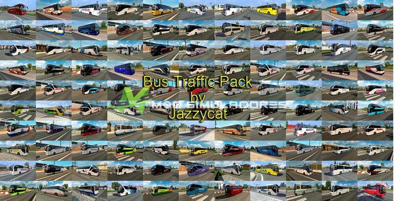 Pack de Ônibus no Tráfego V.10.6 Para V.1.39.X - ETS2