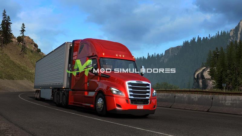 Caminhão DLC Freightliner Cascadia V1.1 Para V.1.39.X - ETS2