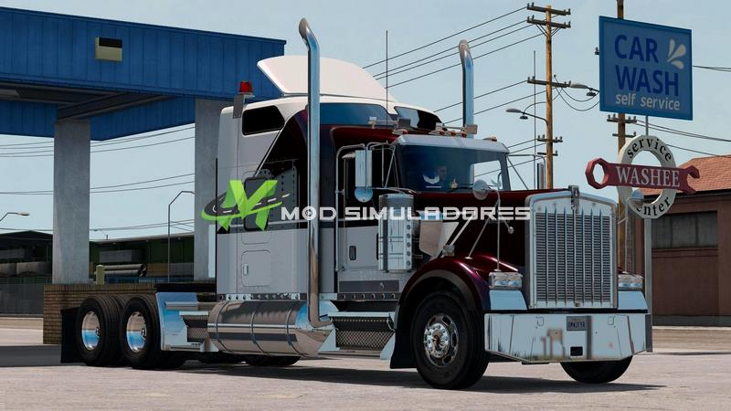 Caminhão Kenworth W900B V1.2 Para V.1.39.X - ETS2