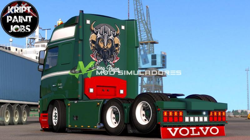 Caminhão Volvo FH16 2009 Viking V.1.0 Para V.1.39.X - ETS2