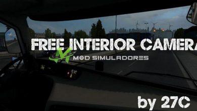 Mod Câmera Interior Livre Para V.1.39.X - ETS2
