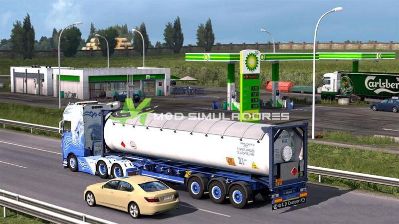 Mod Posto de Gasolina Real V1.0 Para V.1.39.X - ETS2