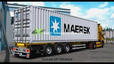 Reboque Container Maersk V.6.0 Para V.1.39.X - ETS2
