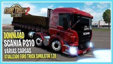 Caminhão Scania P310 Para V.1.39.X - ETS2
