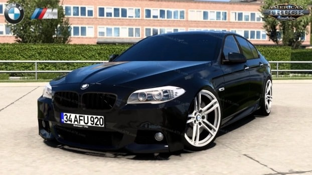 Carro BMW 5 Series F10 M-Sport v1.0 (1.40.X) ETS2 1