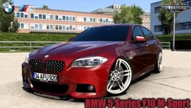 Carro BMW 5 Series F10 M-Sport v1.0 (1.40.X) ETS2