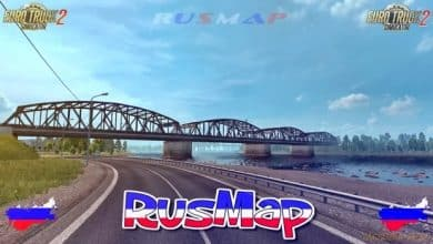 Mapa RusMap V2.4.1 Para V.1.40.X - ETS2