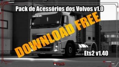 Pack de Acessórios Volvo Para V.1.40.X - ETS2