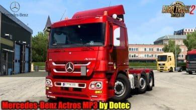 Caminhão Mercedes-Benz Actros MP3 v1.1 Para V.1.41.X - ETS2
