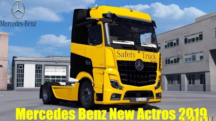 Caminhão Mercedes Benz New Actros 2019 v1.6.5 Para V.1.40.X - ETS2