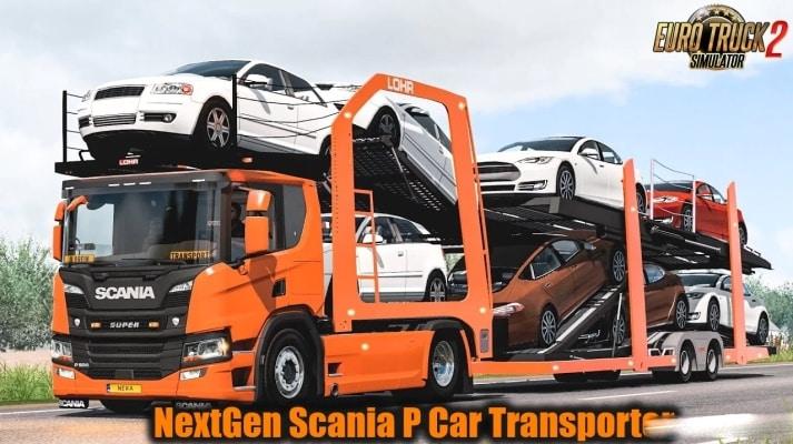Caminhão NextGen Scania P Car Transporter v7.0 Para V.1.40.X - ETS2