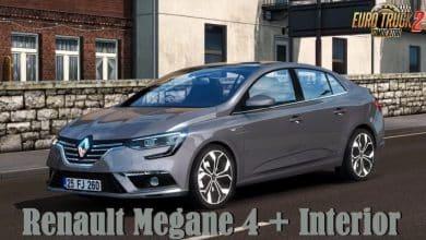 Carro Renault Megane 4 e Interior v1.6 Para V.1.40.X - ETS2