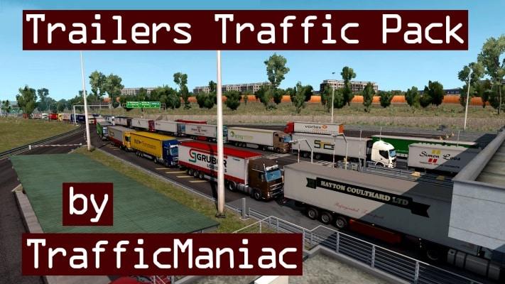 Pack Reboque TrafficManiac Tráfego V.6.8 Para V.1.40.X - ETS2