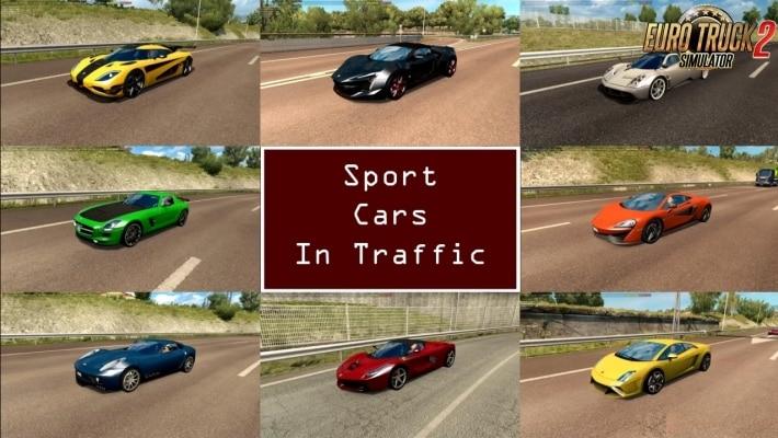 Pack Tráfego Carros Esportivos V.8.5 Para V.1.40.X - ETS2